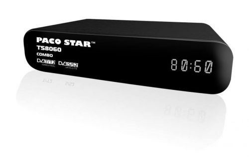 HD Terrestrial and Satellite receiver 2 in 1 PACOSTAR- TS8060 COMBO